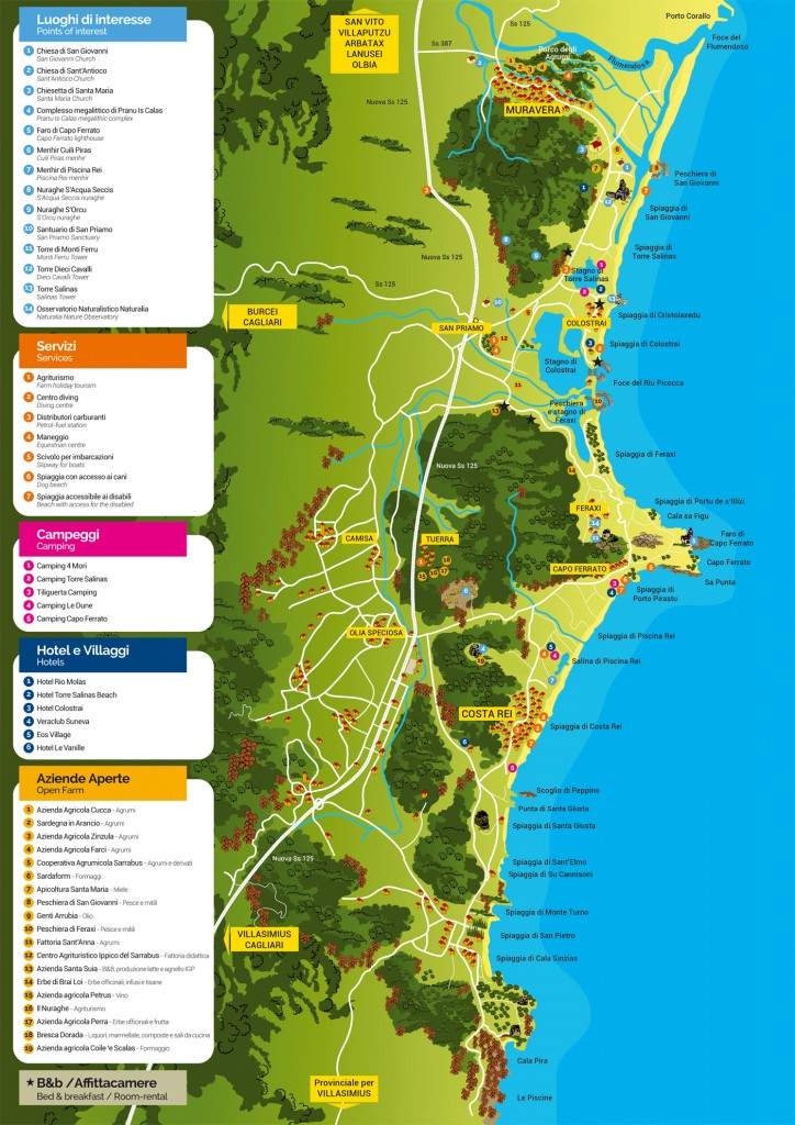 Cartina Sardegna Orientale.Cartine E Mappe Del Territorio Costa Rei Sardegna Sud Est